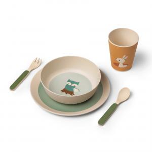 Three friends bamboo dinner set