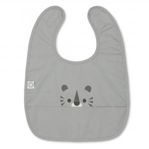 Eat grey tiger bib