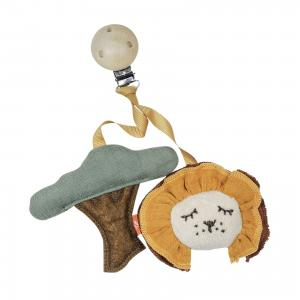 Wooden Clip with Lion