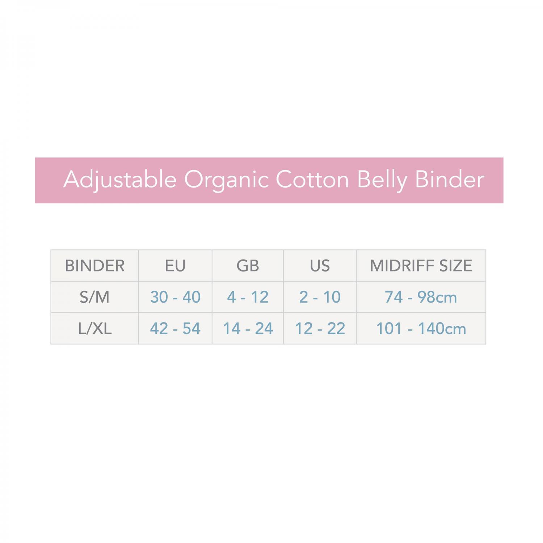 Belly Binder eko svart L/XL