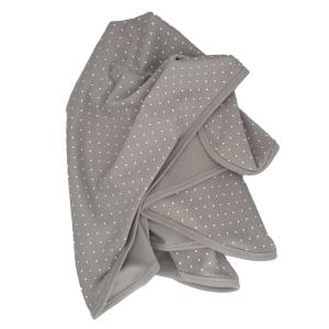 Babyblanket grey dotty GOTS
