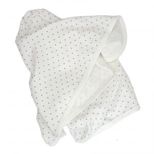 Babyblanket white dotty GOTS