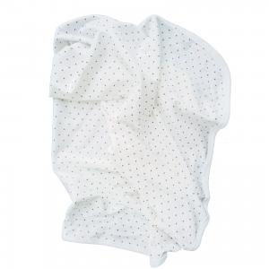 Babyblanket white pink dotty GOTS