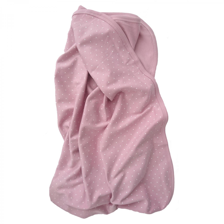 Babyblanket soft pink dotty GOTS