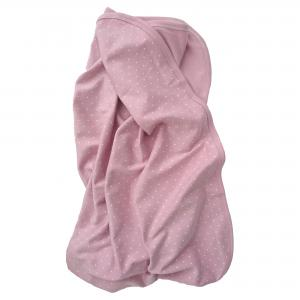 Babyblanket soft pink dotty GOTS