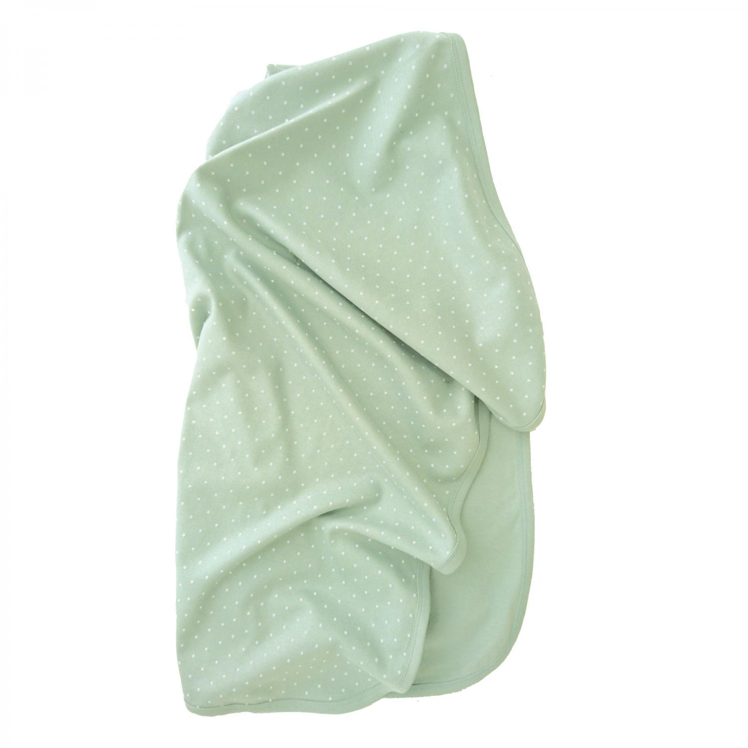 Babyblanket soft mint dotty GOTS