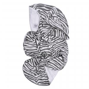 Babyblanket animal grey GOTS