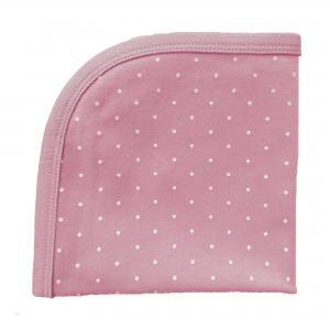 Snuttefilt soft pink dotty GOTS
