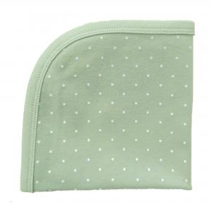 Snuttefilt soft mint dotty GOTS