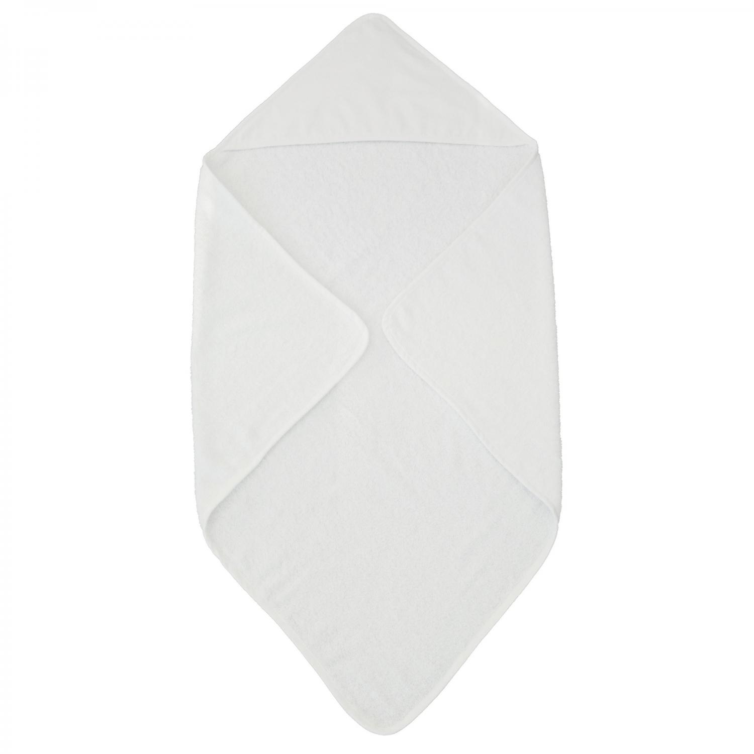 Hooded towel classic white GOTS