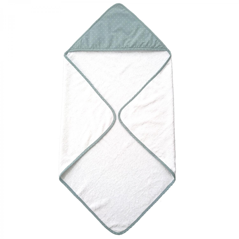 Hooded towel classic sapphire dotty GOTS