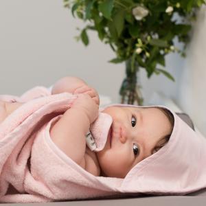 Badcape style rosa GOTS
