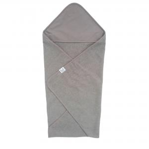 Hooded towel style grey GOTS