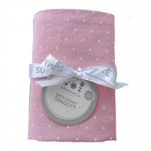 Pillow case junior soft pink dotty GOTS