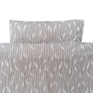 Bedding junior grey twist GOTS