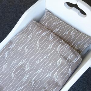 Bedding baby grey twist GOTS