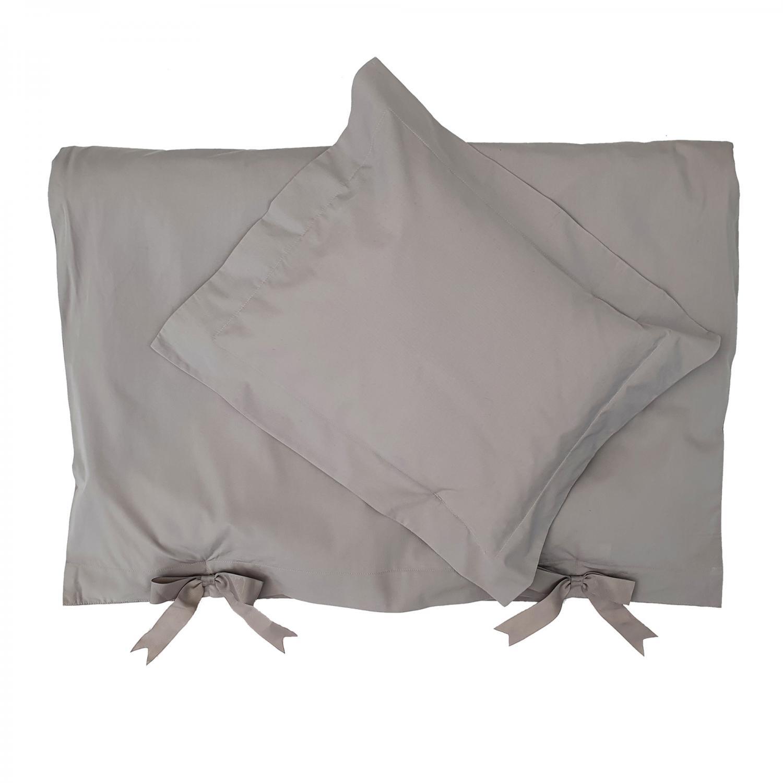 Bedding baby grey classic GOTS