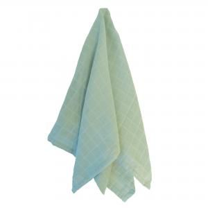 Muslin blanket soft mint GOTS