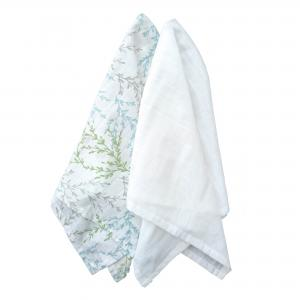 Muslin pack of 2 springtime GOTS