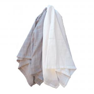 Muslin pack of 2 grey GOTS
