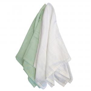 Muslin pack of 2 soft mint GOTS