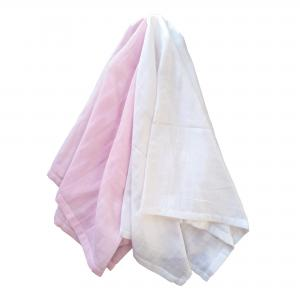 Muslin pack of 2 rosa GOTS
