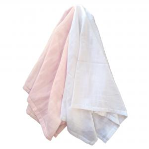 Muslin pack of 2 pale pink GOTS
