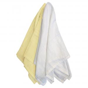 Muslin pack of 2 yellow GOTS