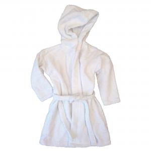 Bath robe white 74/80 GOTS