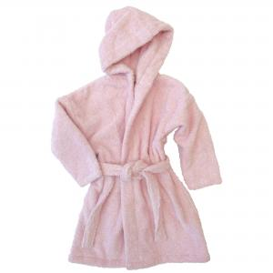 Bath robe pink 74/80 GOTS