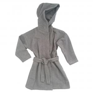 Bath robe grey 74/80 GOTS