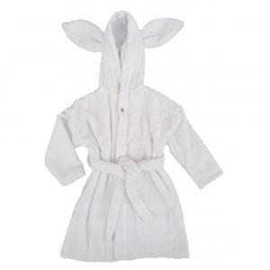Bath robe rabbit white 74/80 GOTS