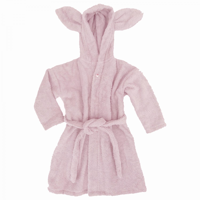 Bath robe rabbit pink 86/92 GOTS