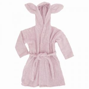 Bath robe rabbit pink 86/92 GOTS