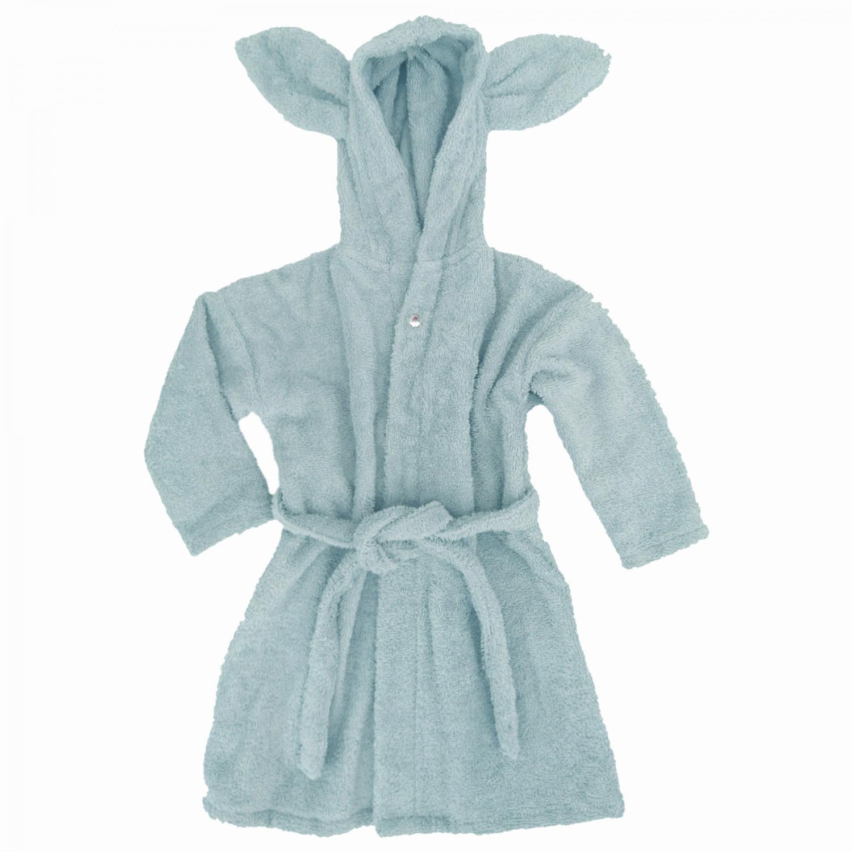 Bath robe rabbit sapphire 86/92 GOTS