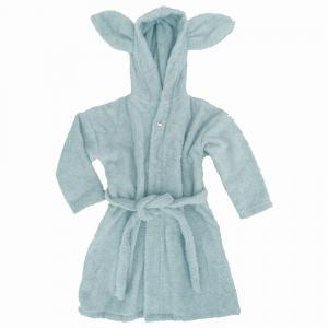 Bath robe rabbit sapphire 110/116 GOTS