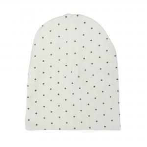 Hat white dotty 0-3 months GOTS