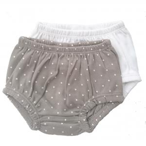 Bloomers pack of 2 grey dotty 3-6 months