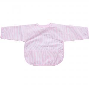 Bib with sleeves animal pink