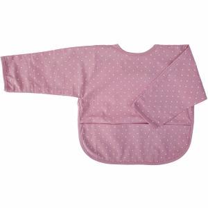 Haklapp med ärm soft pink dotty