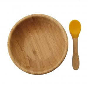 Bamboo bowl yellow