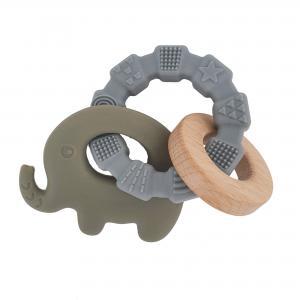 Teether toy elephant green