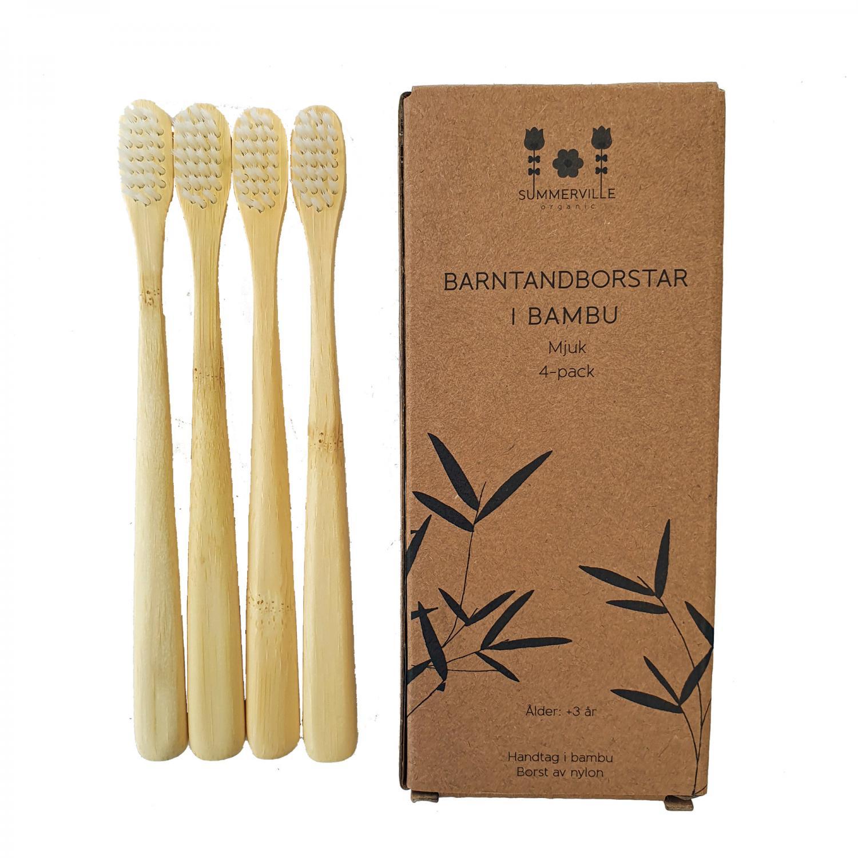 Kids toothbrush natural 4-pack