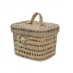 Small palm leaves basket