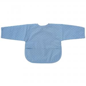 Bib with sleeves forever blue dotty