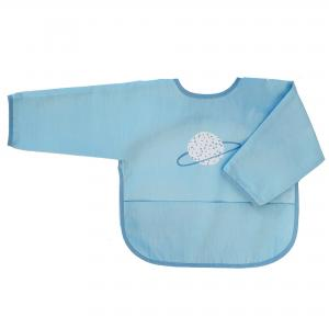Bib with sleeves blue planet