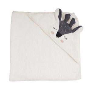 Hooded Towel Fawn Ecru