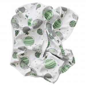 Babyblanket moon green GOTS