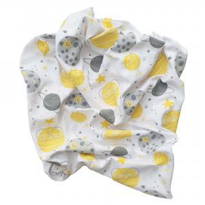 Babyblanket moon yellow GOTS