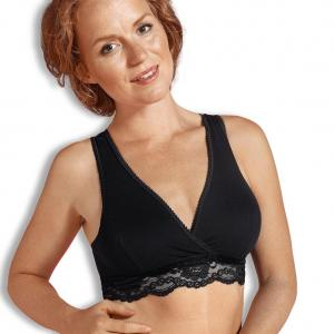 Crossover nursing bra black S